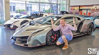 FINDING TWO UNICORNS! Lamborghini Veneno Coupe And Roadster