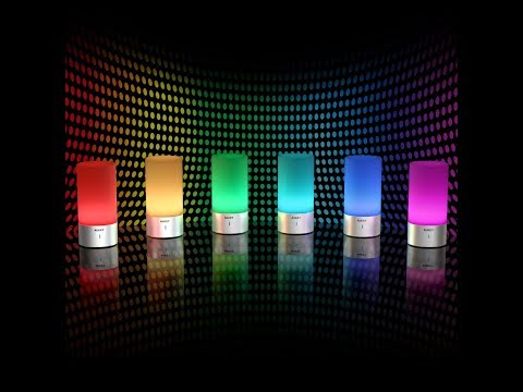 RGB LED Smartlamp AUKEY Nachttischlampe dimmbar Mit Berührungssensor