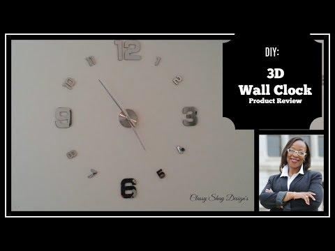 🌺DIY 3D Wall Clock| Product Reveiw|Home Decor👍👍🌸
