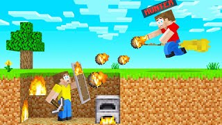 WIZARD HUNTERS VS SPEEDRUNNER In Minecraft!