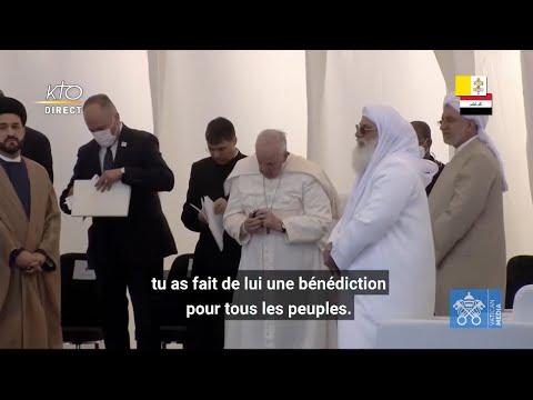 Prière des enfants d'Abraham lors de la rencontre interreligieuse dans la plaine d'Ur