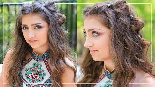 How To Create Boho Bubble Braids | Kamris Prom Hairstyles 2018