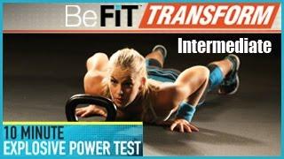 BeFit變換:10分鐘爆炸力測試鍛煉 - 中級水平 出處 BeFiT