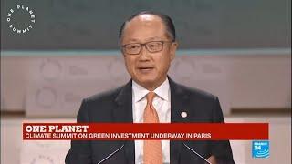 One Planet Summit: World Bank President Jim Yong Kim