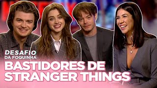 ENTREVISTA STRANGER THINGS 3: O QUE PEGARAM DO SET, MILLIE CHORONA, MEME DO STEVE... | Foquinha