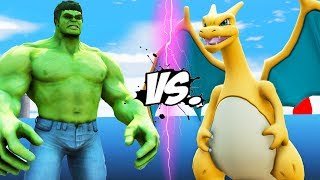 HULK vs CHARIZARD (Pokemon) - EPIC BATTLE