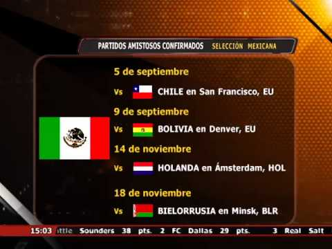 Se confirmó calendario de partidos amistosos de la Selección Mexicana