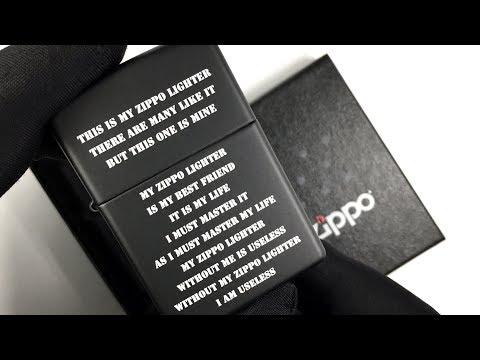 24710 Зажигалка Zippo Creed, Black Matte