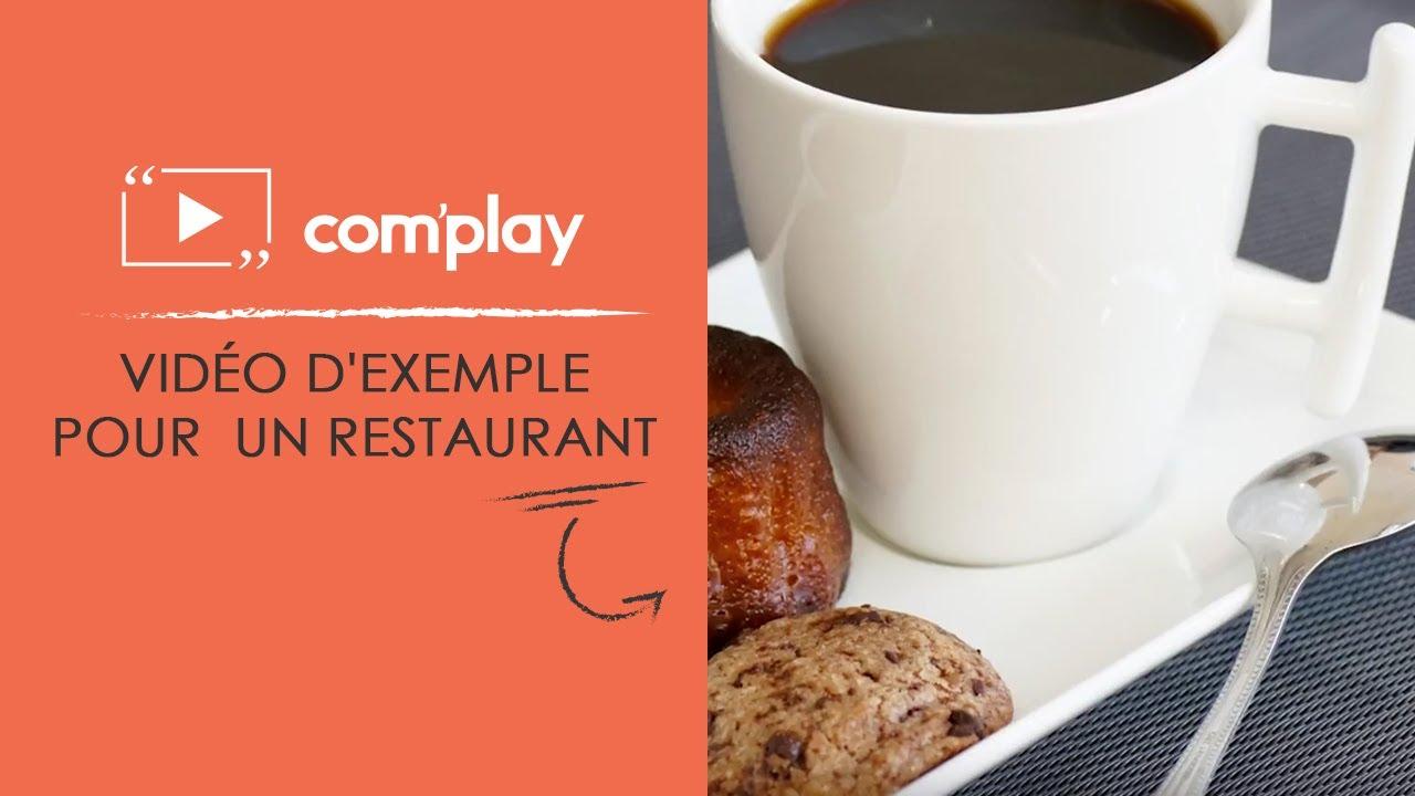 Image YouTube Affichage dynamique : exemple de diffusion pour un restaurant
