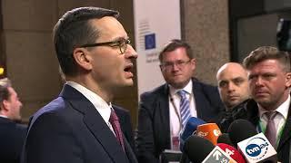 Premier Mateusz Morawiecki po szczycie budżetowym UE