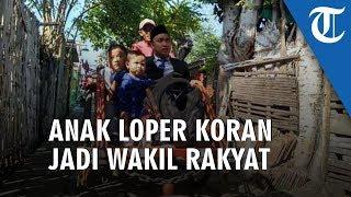 Anak Loper Koran Dilantik Jadi Wakil Rakyat, Naik Becak ke Pelantikan hingga Basuh Kaki Orangtuanya