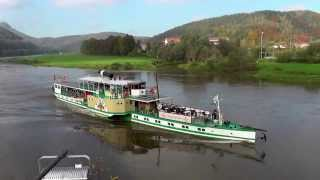 preview picture of video 'Dampfschiff PIRNA in Bad Schandau'