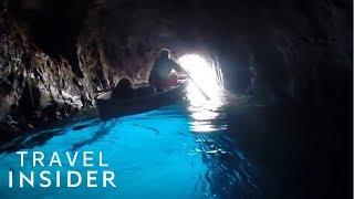 Duck As You Enter This Italian Blue Grotto | Capri, Italy