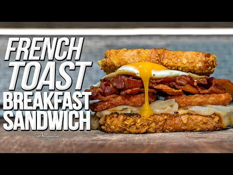 FRENCH TOAST BREAKFAST SANDWICH | SAM THE COOKING GUY 4K
