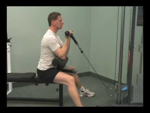 www.FitnessPTO.com - Cable Rope Preacher Curls
