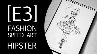 SPEED ART: Hipster Fashion Drawing [E3]
