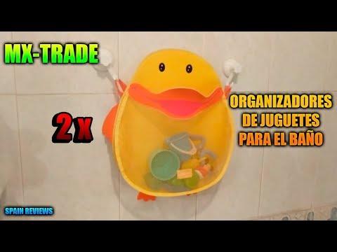 MX-TRADE - 2 Organizadores de juguetes para el baño