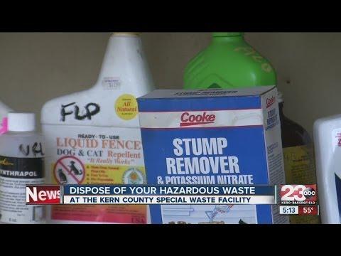 Dispose of your hazardous waste
