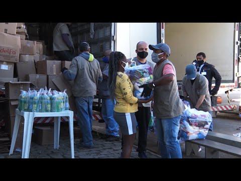 Nova Friburgo tem distribuição de cestas básicas para famílias em vulnerabilidade social