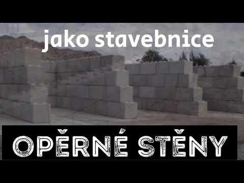 Betonové bloky - kostky pro výstavbu opěrných stěn, skladů