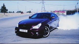 Mercedes CLS55 AMG & E55 AMG - drift, burnout, sound compilation