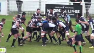 preview picture of video 'rugby strasbourg 11 20 rouen federale 2 2013 sport'