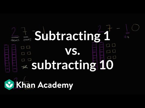 Subtracting 1 or 10