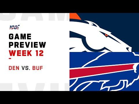 Denver Broncos vs Buffalo Bills Week 12 NFL Game Preview