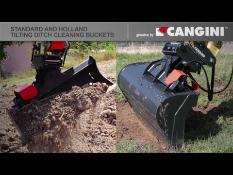 Std & Holland Tilting ditch cleaning bucket - Benna orientabile std & Olanda