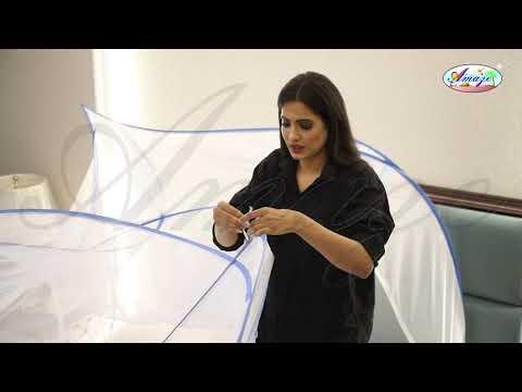Quadra (180x200x170 Cm) Folding Self Standing, Auto Pop Up, Mosquito Net Bed Canopy