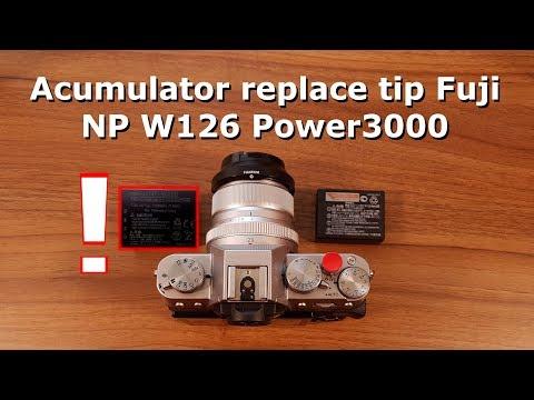 Atentie la acumulatorul replace tip Fuji NP W126 Power3000 PL832B!