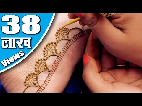 easy leg mehndi design by jaipurthepinkcity
