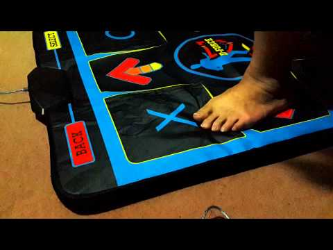 D-Force Dance Pad Deluxe feet moving video