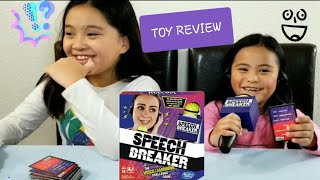TOY REVIEW - SPEECH BREAKER BY HASBRO GAMING - VOICE JAMMING CHALLENGE GAME VIDEO