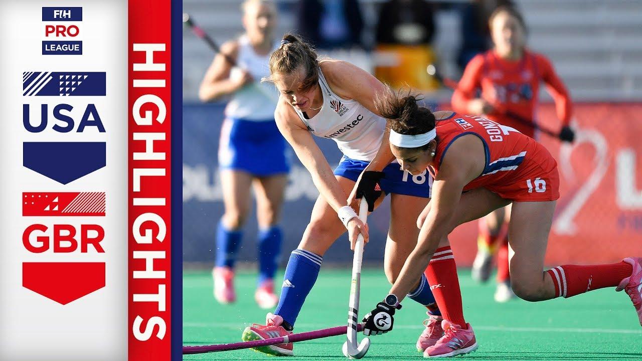 USA v Great Britain   Week 11   Women's FIH Pro League