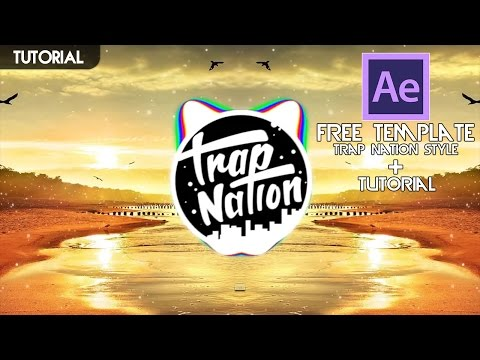 free trap nation audio visualizer template tutorial adobe after