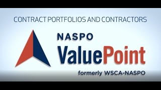NASPO ValuePoint Contract Portfolios and Contractors