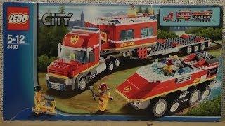 preview picture of video 'LEGO CITY 4430 TRANSPORT STRAŻY POŻARNEJ'