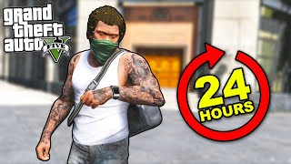 Robbing ALL Banks in GTA 5 in 24 HOURS!!