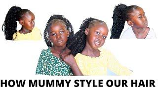 HOW I STYLE MY DAUGHTERS HAIR #howto #hairdo #blackbarbies #4Chair #gel