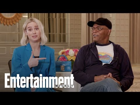 Captain Marvel's Brie Larson & Samuel L. Jackson On The 'Buddy-Cop' Comedy | Entertainment Weekly