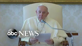 Pope Francis sends emotional message to the world