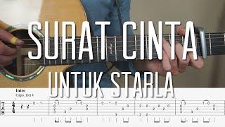 Virgoun   Surat Cinta Untuk Starla    Fingerstyle Guitar Tutorial (Lesson) Tabs