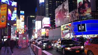 Times Square Time Lapse at Night
