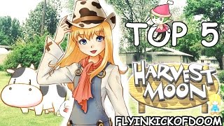 A Girl's Top 5 Harvest Moon Games!