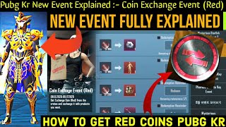 Red Coin Exchange Event | PUBG Kr New Event | Coin Exchange Event Pubg Kr | Pubg Kr Pharaoh Crate |