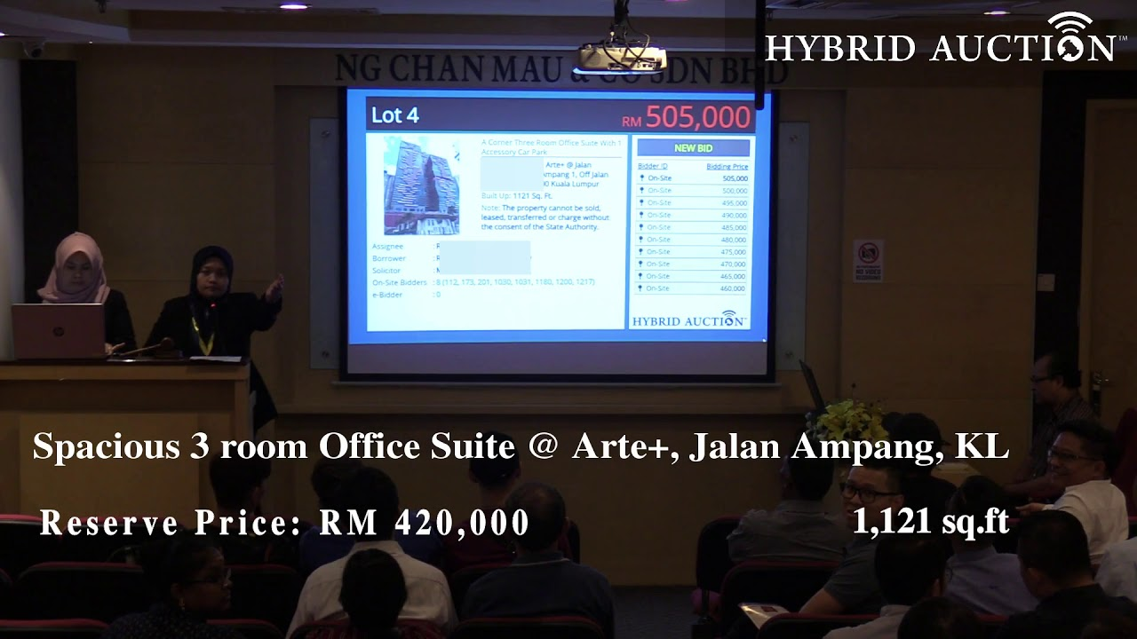 Spacious 3 room Office Suite in KL City has attracted 8 Bidders started a Bidding War!