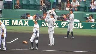 阪神タイガース2018/鳥谷選手への巨人の選手からの挨拶が止まらない(2018.09.09)