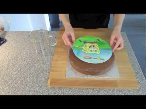 Sweets For My Sweet - Spongebob Kuchen mit Schokobuttercreme