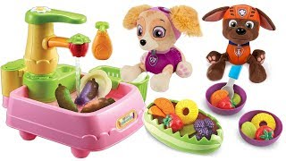 Paw Patrol Magical Color Change Vegetables and Fruit  Fun Colors Names of Food